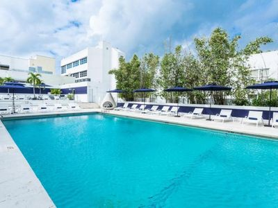Photo for TWO FANTASTIC UNITS FOR A GROUP OF 8! LIVE ON LINCOLN ROAD, POOL, RESTAURANT, HOUSEKEEPING!