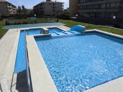Photo for Apartment with pool with slides and free wifi