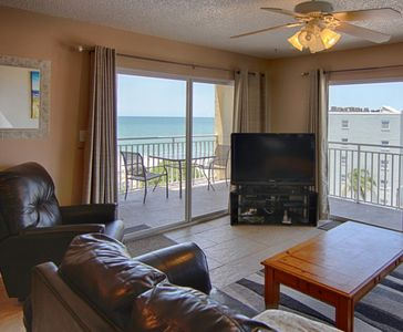 Photo for Condo 508: Watch the sunset over the fishing pier.  3 bathrooms.