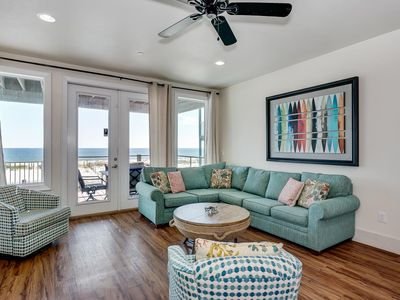 Photo for Large, Private Beachfront Home. Beachfront Pool, Private Boardwalk, Three Balconies. Updates Throughout!