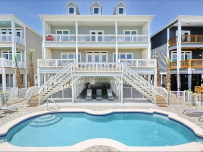 Photo for Oceanfront, Private Pool, Private Beach Access, Clean w/Fresh Linen, 6 Bedroom