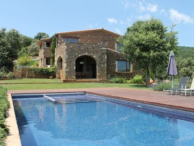 Photo for Gorgeous spacious villa with pool in the hills, Catalonia, Costa Brava, Spain