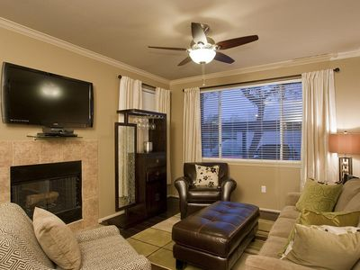 Photo for Modern 2 King Beds, Sleeper Sofa, WiFi, 3 LCD TVs, Gym, Heated Pools, Gated