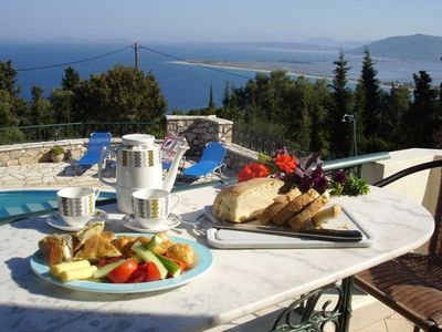 Enjoy breakfast on the balcony with a sea view