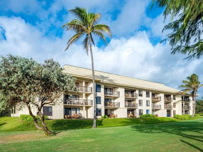 Photo for Kauai Beach Villas Luxury Oceanfront Resort 2 bdrm, slps 6 Nov.15-29-$799/week!