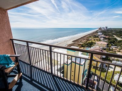 Photo for Caleb's Penthouse. Perfect Winter Getaway. Oceanfront w/ 2 Balconies. Great Location too.