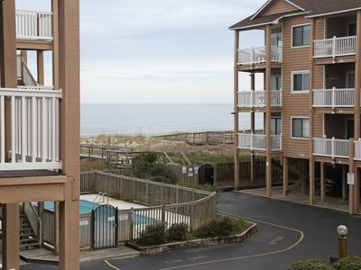 Photo for Oceanfront Condo With 2 Pools! Family Friendly and Steps From the Beach!