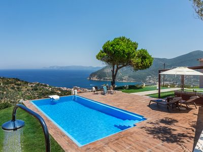 Photo for Villa Savvina with stunning view Skopelos island