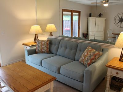Photo for Clean, comfortable, sleeps 7. Walk to the beach! Variable rates, new owners.
