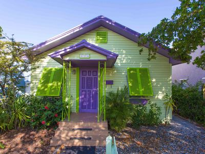 Photo for Belle Flower Oasis - 3 bedroom cottage with pool - walk to downtown Lake Worth