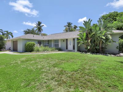 Photo for Private, pet-friendly inland home w/ heated pool
