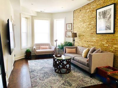 Photo for Soft Leather and Warm Bricks at a Stylish Rogers Park Home