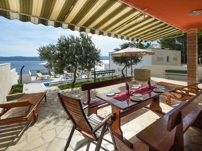 Photo for Three bedroom apartment with terrace and sea view Marušići, Omiš (A-10009-c)