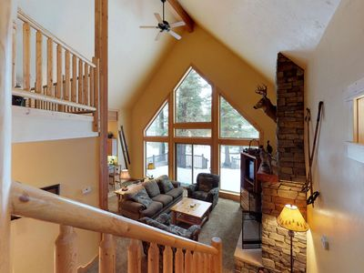 Photo for Cozy cabin with shared hot tub & pool, near the golf course, lake, ski resorts!
