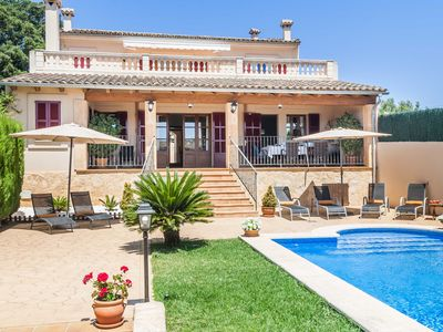 Photo for Villa Son Cotoner-with large pool, SAT-TV, WiFi, 4 bedrooms
