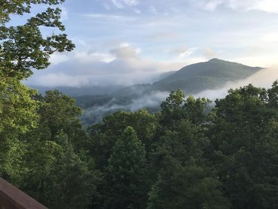 Photo for Gorgeous Mountain views at Little Bear Cabin