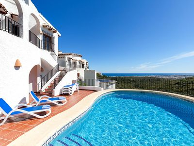 Photo for Stunning private villa for 6 guests with private pool, WIFI, A/C, TV and parking