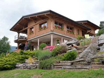 Photo for Panoramic Chalet beautiful view of the valley and well accessible