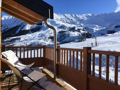 Photo for Ski in, out and back! 60m2, 8 people