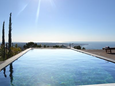 Photo for 5 bedroom luxury Villa for 12 people (10+2) with infinity pool and amazing view.