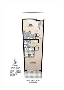 Destin West Bayside Pelican Unit 406 Floor Plan.