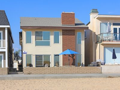 Photo for Oceanfront 2nd Floor Duplex - Great Views, Walk to Balboa Pier and Fun Zone!