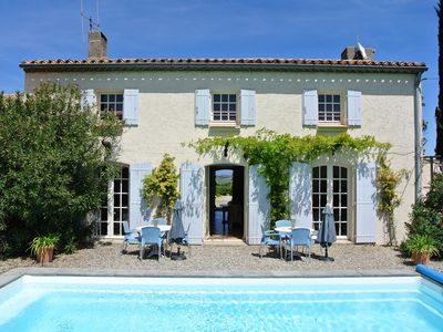 Photo for A FANTASTIES HOLIDAY HOUSE WITH SWIMMING POOL FOR 10 PEOPLE IN SOUTH FRANCE