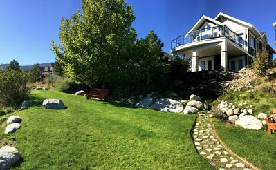 Photo for Beautiful Walk-Out Bungalow with 180 Degree view of Lake Okanagan