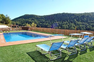The swimming pool is situated with the best view