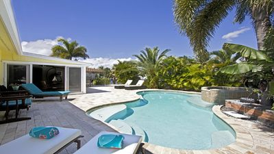 Photo for Private Tropical Oasis on Waterway with Heated & Cooling Salt Water Pool/Spa