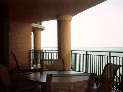 Beautiful ocean view from balcony, seating for dining or just enjoying the view