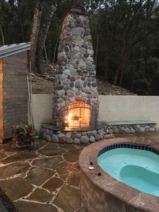Enjoy a Hot Soak next to a roaring fire and then slip into those luxury linens!