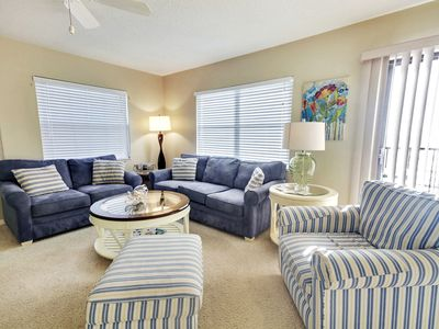 Photo for Emerald Isle #502 - Beautiful 3 bedroom condo/Direct GULF views from balcony!