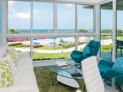 Photo for Family Friendly Beach Front Apartment. Ideal Vacation in the Caribbean
