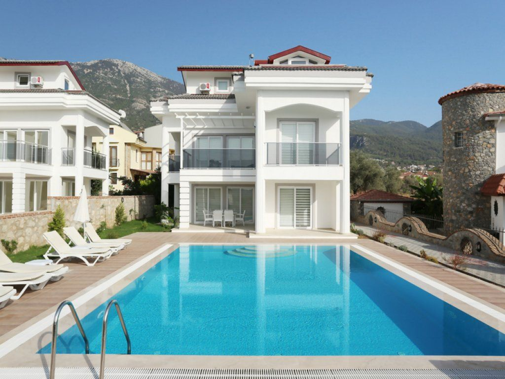 Fethiye 4 Bedroom Villa With Private Pool Twin Villas. Daily Or Weekly Rental  Villas Suitable For Large Families And Groups.