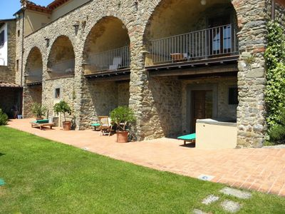 Photo for Cosy apartment for 6 people with pool, WIFI, TV, panoramic view and parking