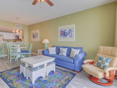 Photo for Oceanfront condo w/ shared pool, hot tub, & beach access! Snowbirds welcome!