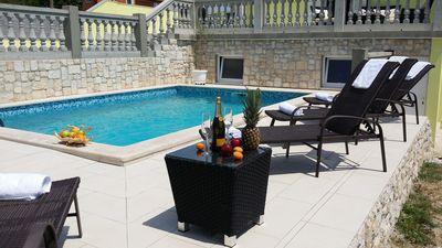 Photo for Beautiful villa / app **** with swimming pool, 900 m from the sea, WiFi, barbecue