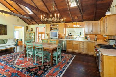 Gourmet Country Kitchen with Wolf Stove and dishwasher