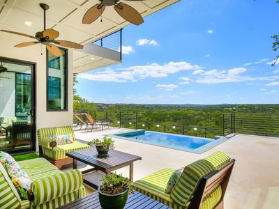 Photo for ARRIVE CLIFFTOP ESTATE | Up to 10 Beds | 8MI to ATX | Greenbelt Access | Pool