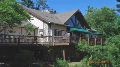 Photo for Bryson City, Lake Fontana, mountain top views, hot tub, wifi