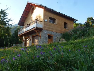 Photo for Chalet departure trails ECRINS calm mountain atmosphere, great valley view