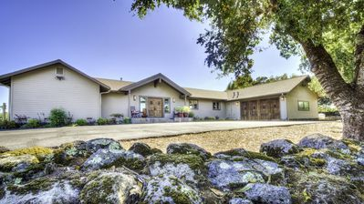 Located at the end of a private drive on the top of a knoll overlooking Napa!