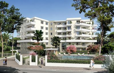 Photo for Modern apartment with pool, garage and large terrace in new built property in Juan-les-Pins