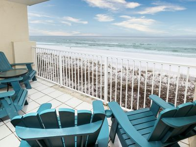 Photo for Gulf Side Unit 402 PET FRIENDLY GULF FRONT! Gorgeous Gulf Front Condo! Amazing views!