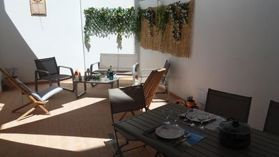 Photo for ALGARVE Historical Center Olhao Appart 88m2 air-conditioned with patio at 6km from Faro