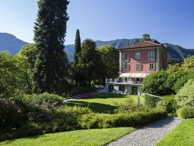 Photo for Villa Porto Felice is a luxury property on Lake Como, private pool, Gym, air conditioning, 9 bedroom