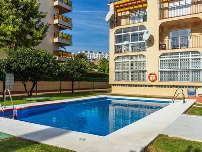 Photo for Cosy apartment for 4 people with pool, WIFI, A/C, TV and balcony