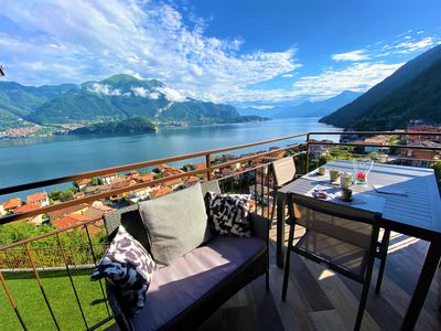 Photo for NEW APARTMENT NEAR BELLAGIO! BALCONY GARDEN, & STUNNING VIEW! SMERALDO