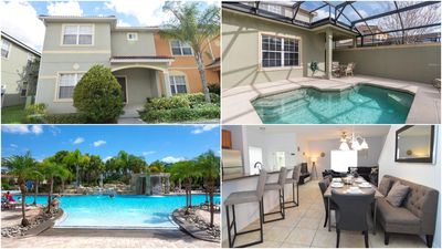 Photo for Stunning 5 bedroom/4 bath townhome, splash pool, Paradise Palms resort amenities